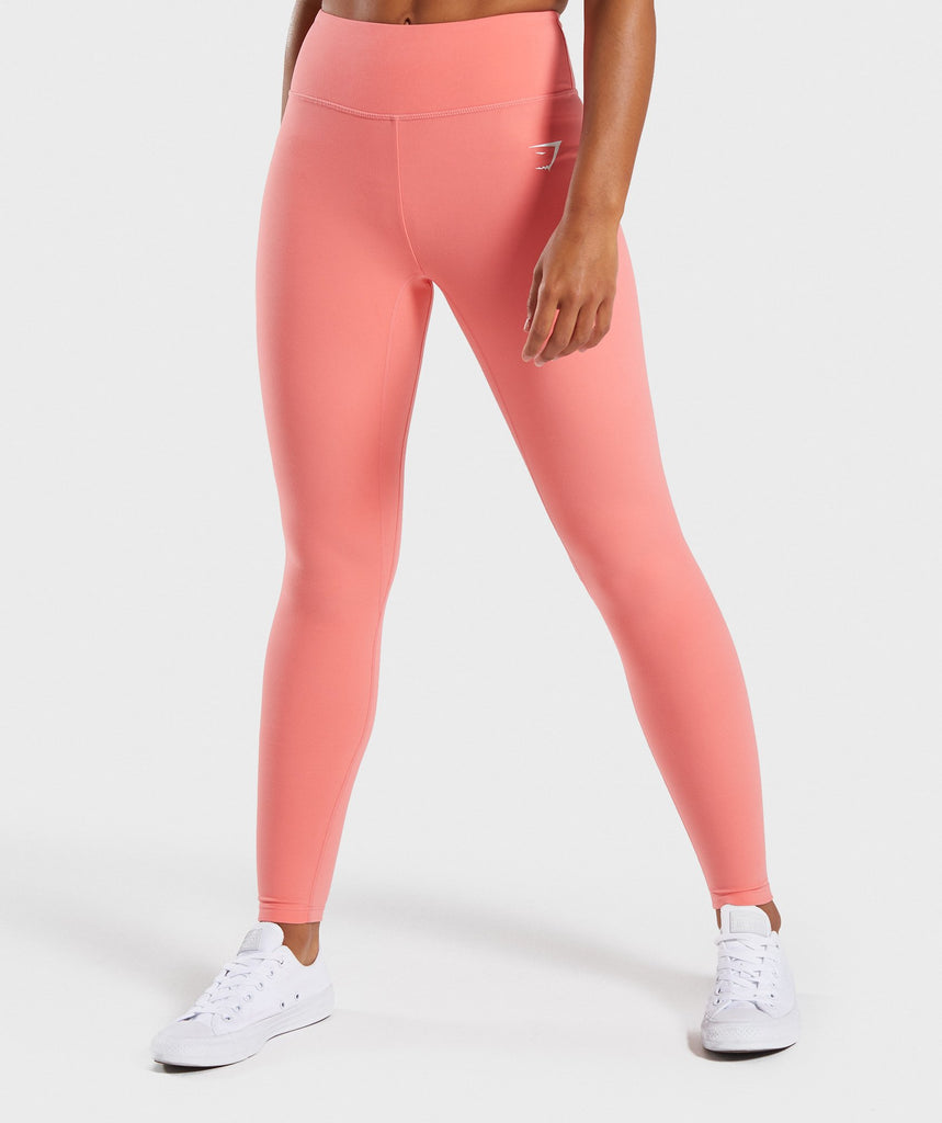 Gymshark Dreamy Leggings - Peach Coral 1