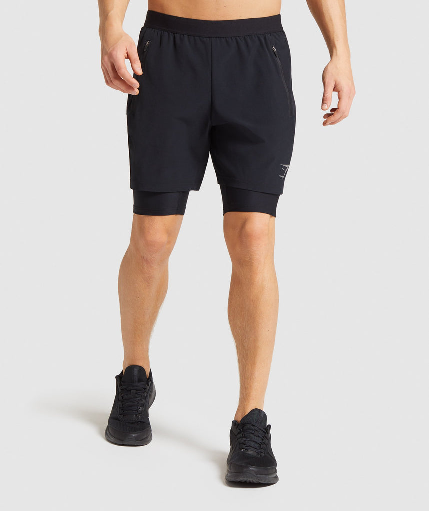 Gymshark Element Hiit 2 in 1 Shorts - Black 1