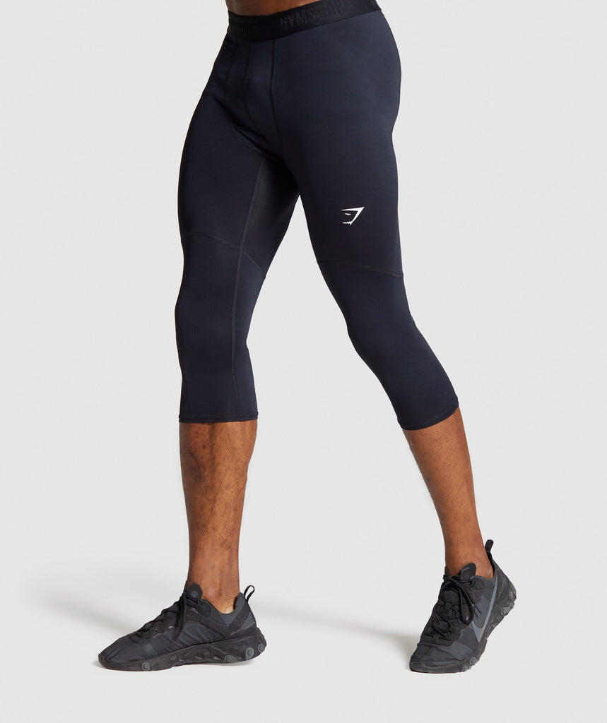 Gymshark Element Baselayer 3/4 Leggings - Black 1