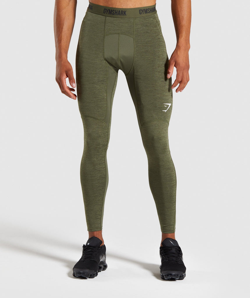 Gymshark Element+ Baselayer Leggings - Dark Green Marl 1