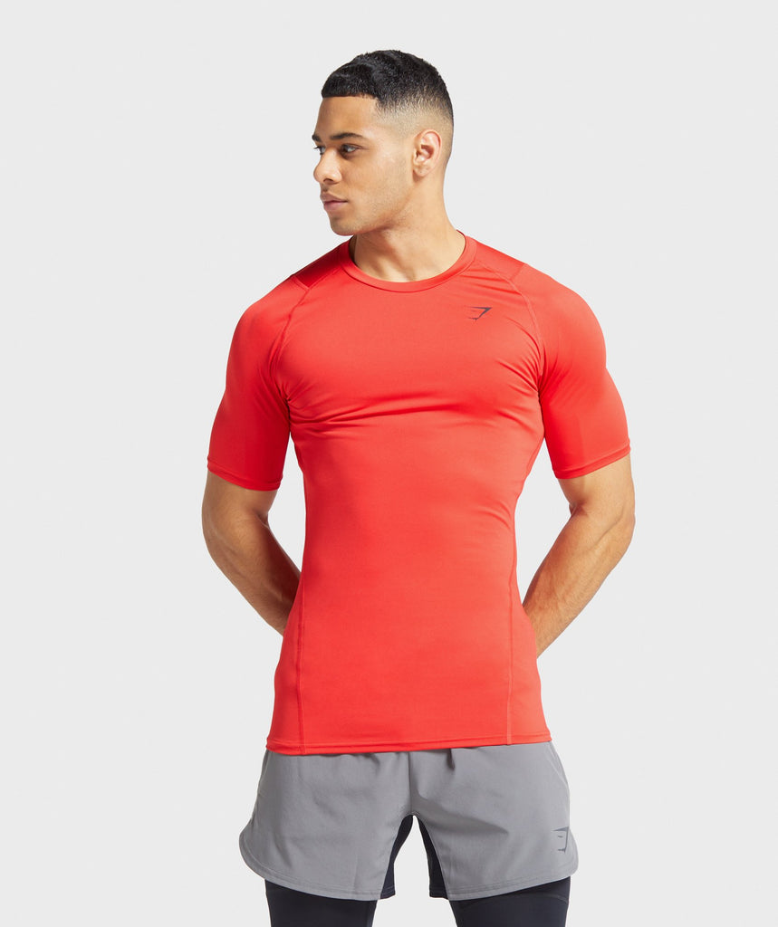 Gymshark Element Baselayer T-Shirt - Red 1