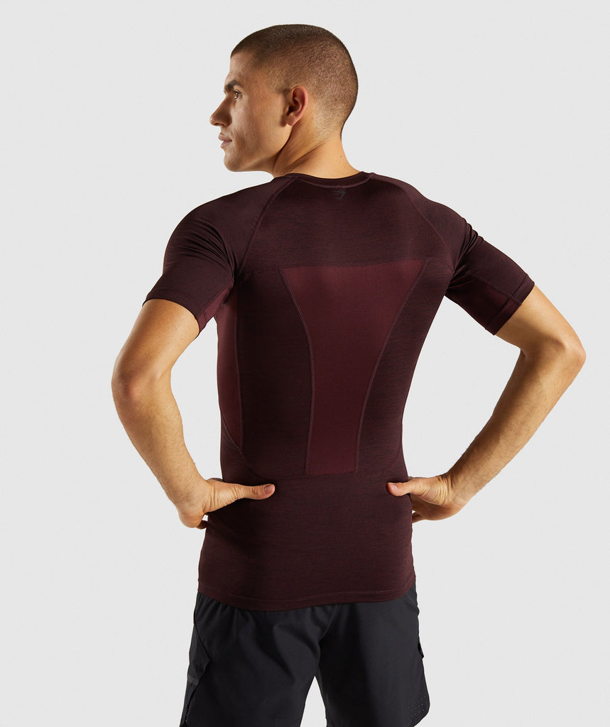 Gymshark Element+ Baselayer T-Shirt - Ox Red Marl 2