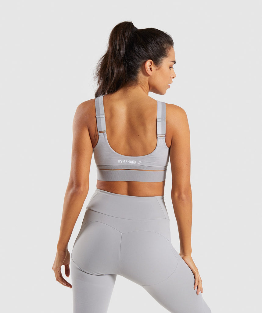 Gymshark Embody Sports Bra - Light Grey Marl 2