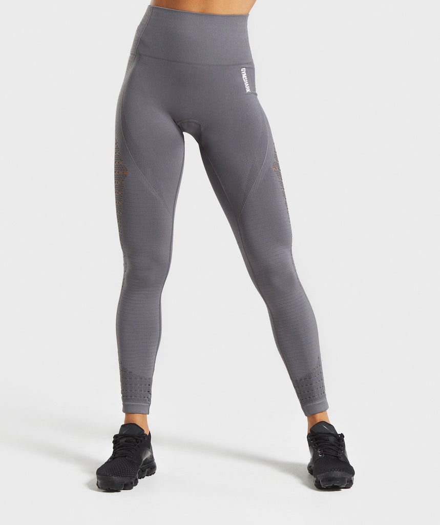 Gymshark Energy+ Seamless Leggings - Smokey Grey 1