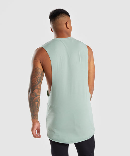 21fa828d217d00 Gymshark Eaze Sleeveless T-Shirt - Pale Green 1 ...