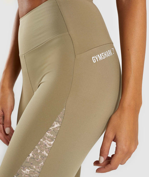 Gymshark Efflux Leggings - Washed Khaki 4