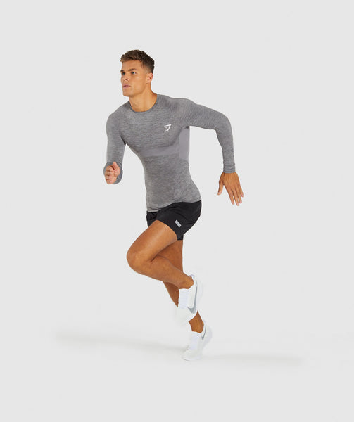Gymshark Element+ Baselayer Long Sleeve Top - Smokey Grey Marl 3