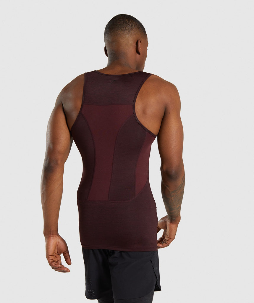 Gymshark Element+ Baselayer Tank - Ox Red Marl 2