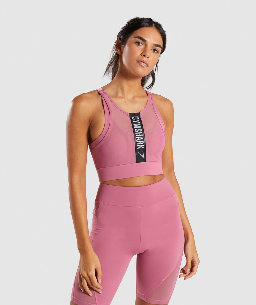 Gymshark Elevate Sports Bra - Dusky Pink 1