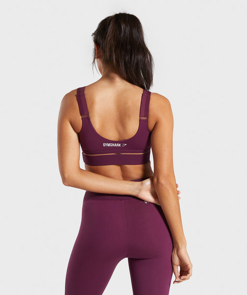 Gymshark Embody Sports Bra - Dark Ruby 1