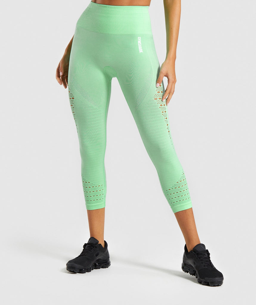 Gymshark Energy+ Seamless Cropped Leggings - Mint 1