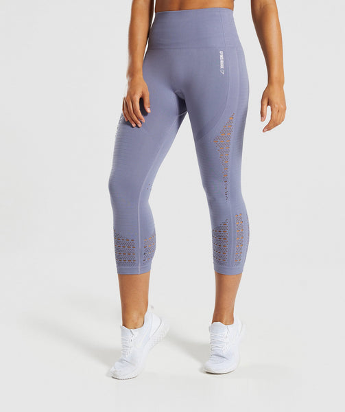 Gymshark Energy+ Seamless Cropped Leggings - Steel Blue 4