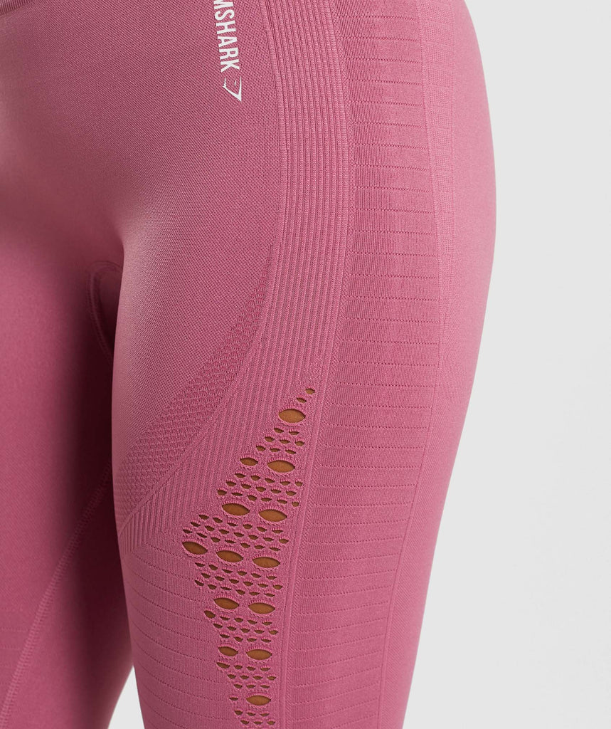 Gymshark Energy+ Seamless Cropped Leggings - Dusky Pink 5