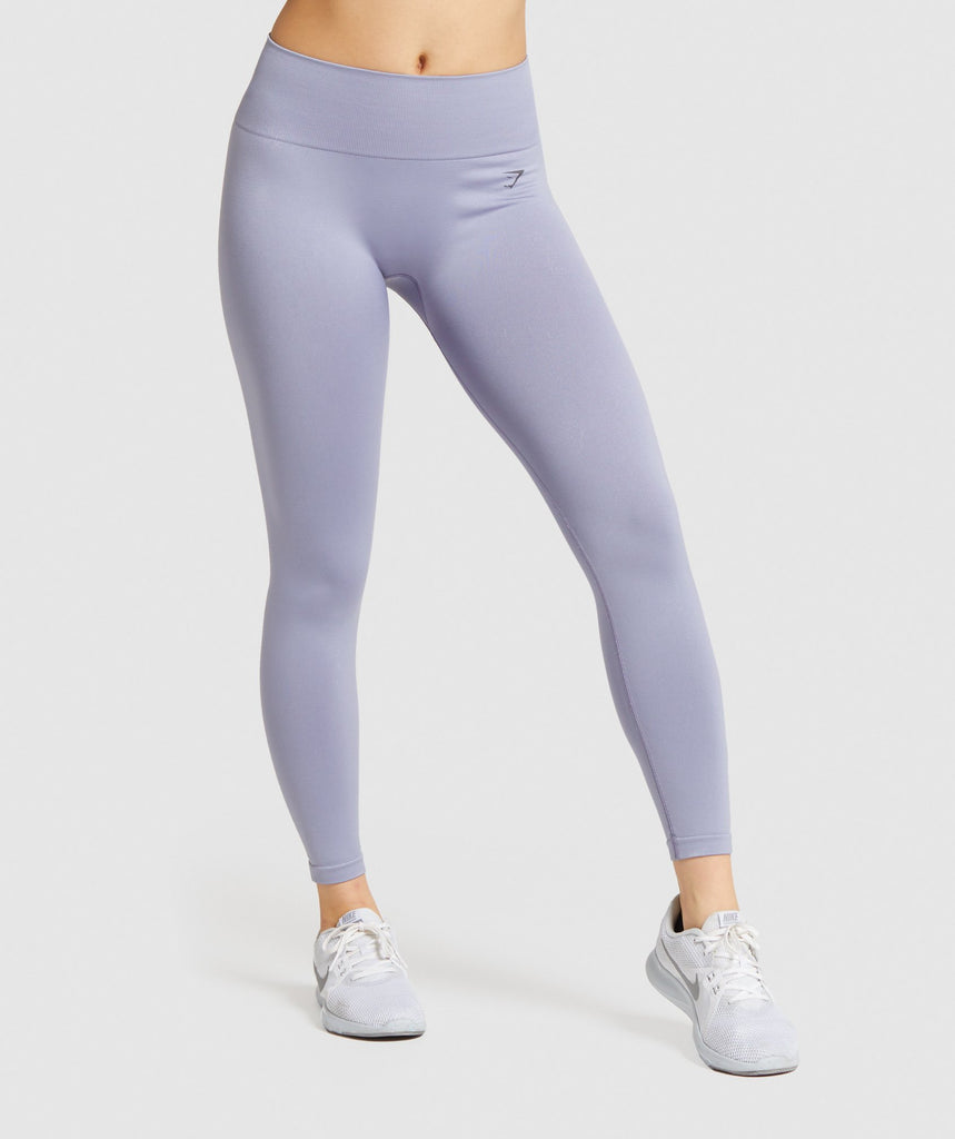 Gymshark Fit Mid Rise Leggings - Blue/Charcoal 1