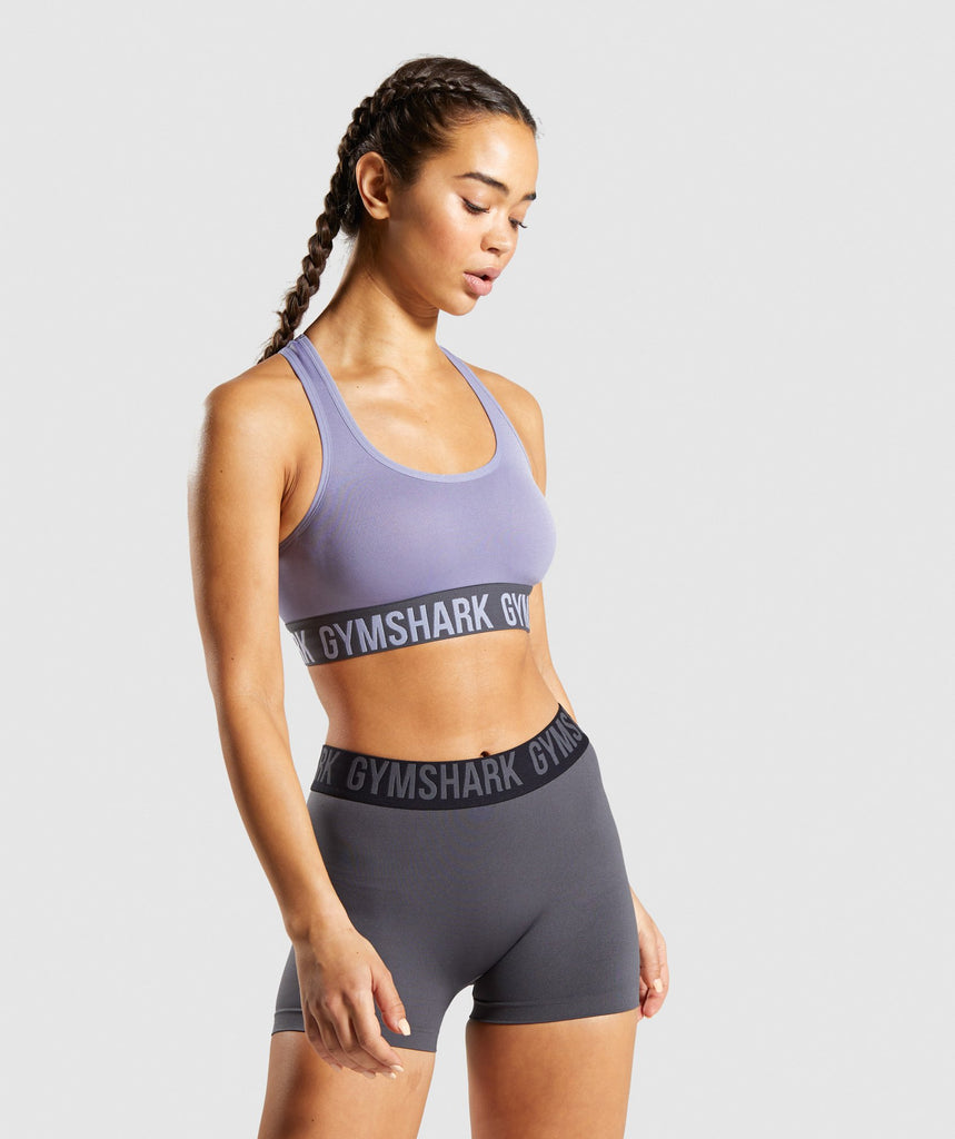 Gymshark Fit Sports Bra - Blue/Charcoal 1