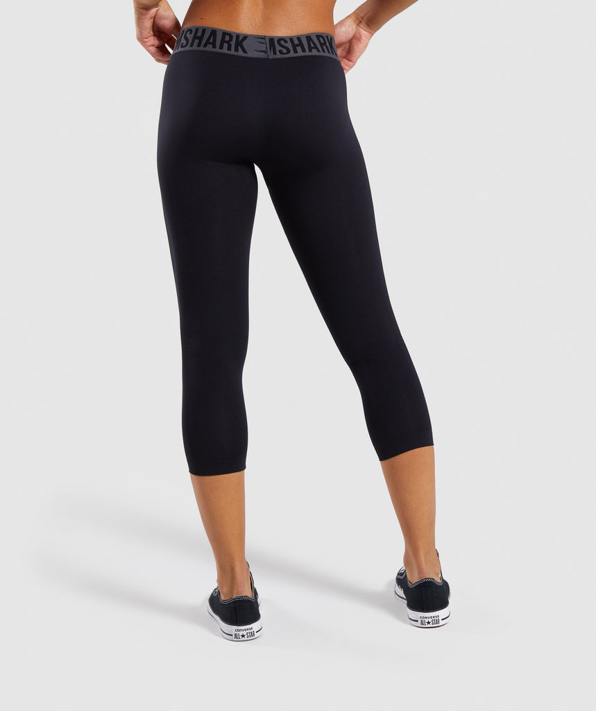 Gymshark Fit Cropped Leggings - Black 2