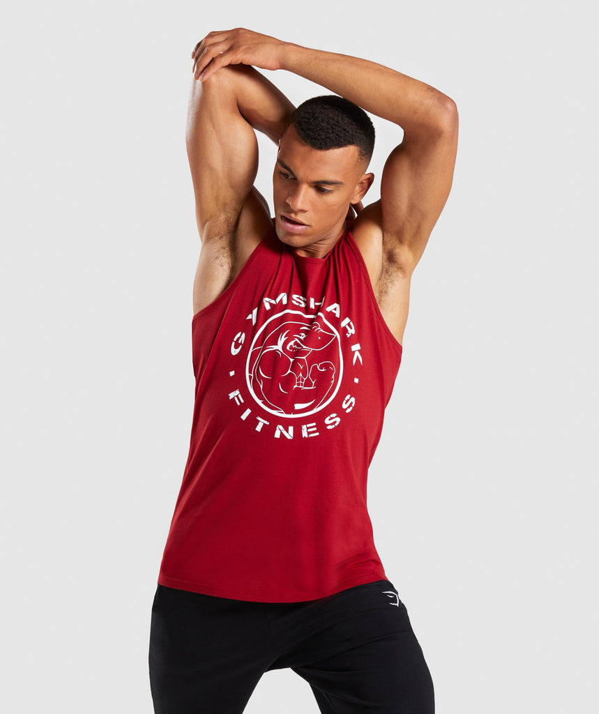 Gymshark Legacy Tank - Full Red 1