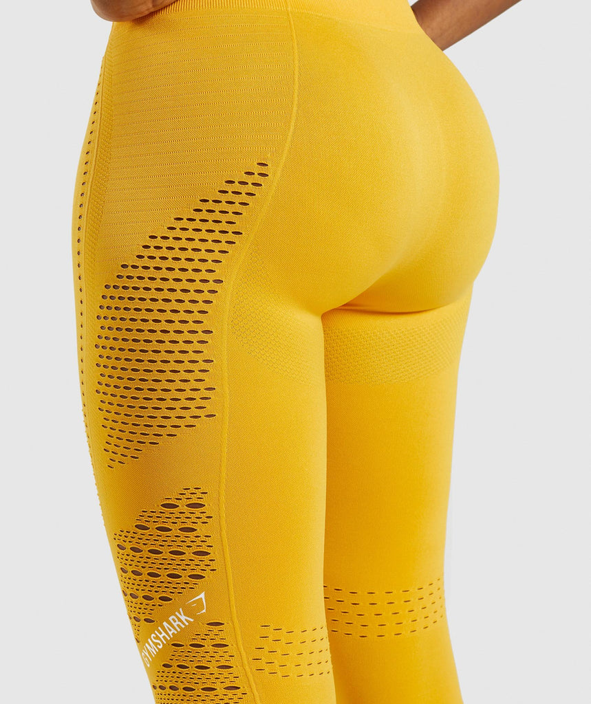 Gymshark Flawless Knit Tights - Yellow 6