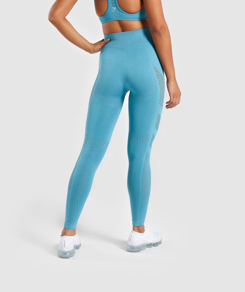Gymshark Flawless Knit Tights - Teal 1