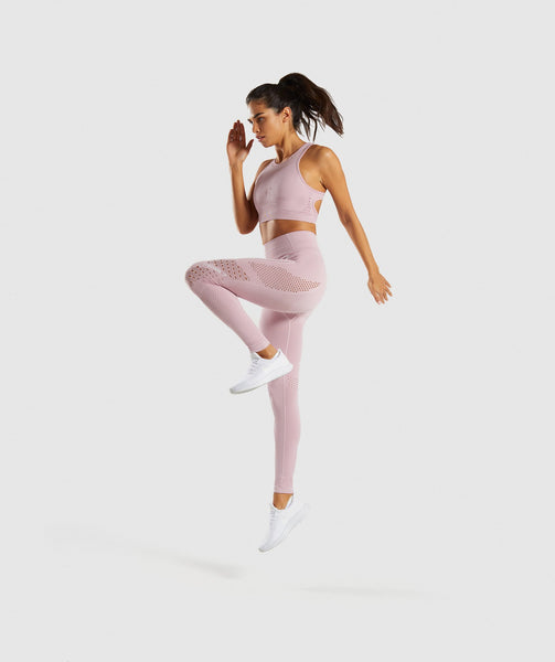 Gymshark Flawless Knit Tights - Washed Lavender 2