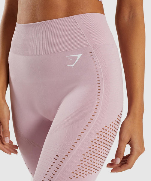 Gymshark Flawless Knit Tights - Washed Lavender 3