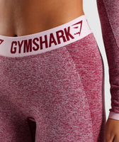 Gymshark Flex Cropped Leggings - Beet Marl/Chalk Pink 11