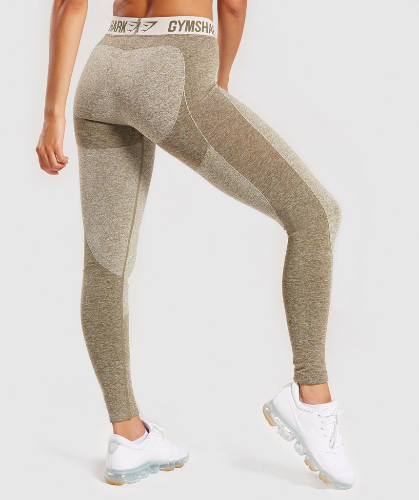 Gymshark Flex Leggings - Khaki/Sand 4