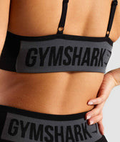 Gymshark Flex Strappy Sports Bra - Black/Charcoal 11