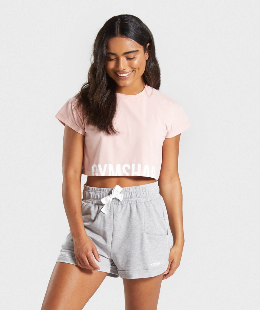 Gymshark Fraction Crop Top - Pink 1