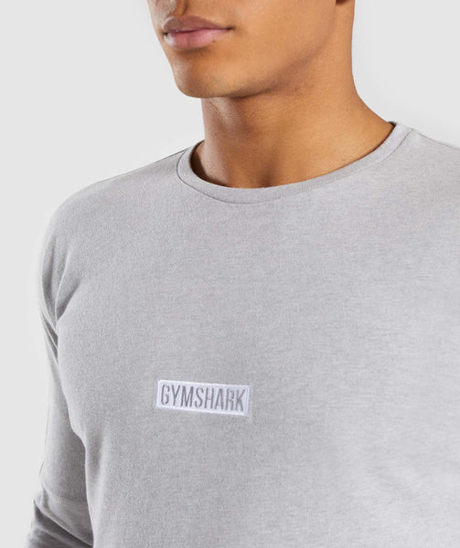 Gymshark Fresh Long Sleeve T-Shirt - Light Grey Marl 4