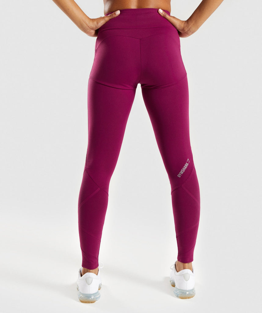 Gymshark Fused Ankle Leggings - Deep Plum 2