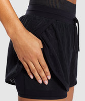 Gymshark Geo Mesh Two In One Short - Black 11