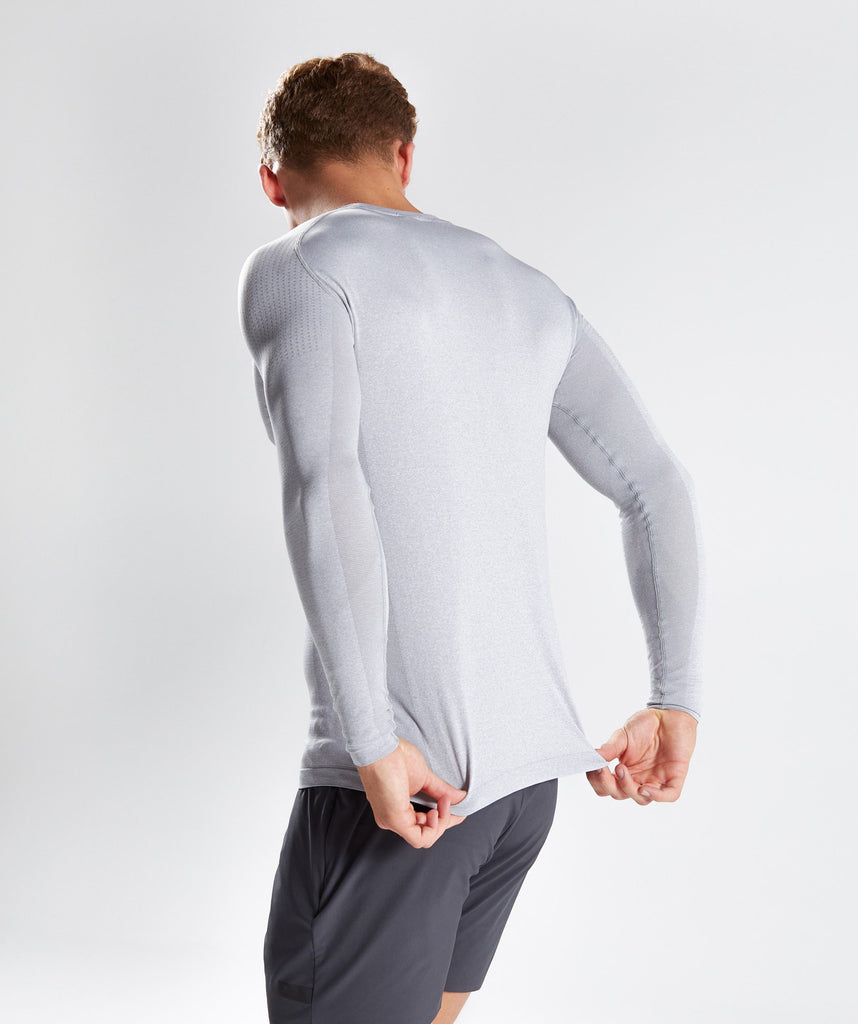 Gymshark Ghost Long Sleeve T-Shirt - Light Grey 2
