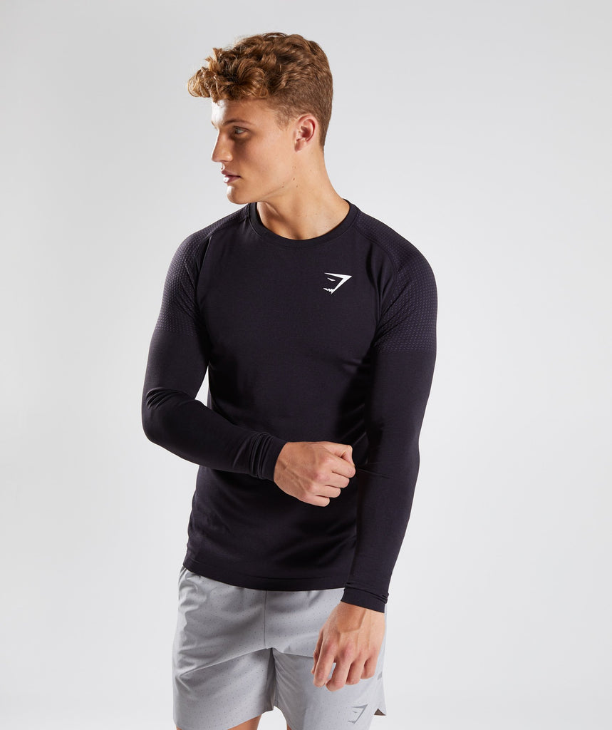 Gymshark Ghost Long Sleeve T-Shirt - Nightshade Purple Marl 1