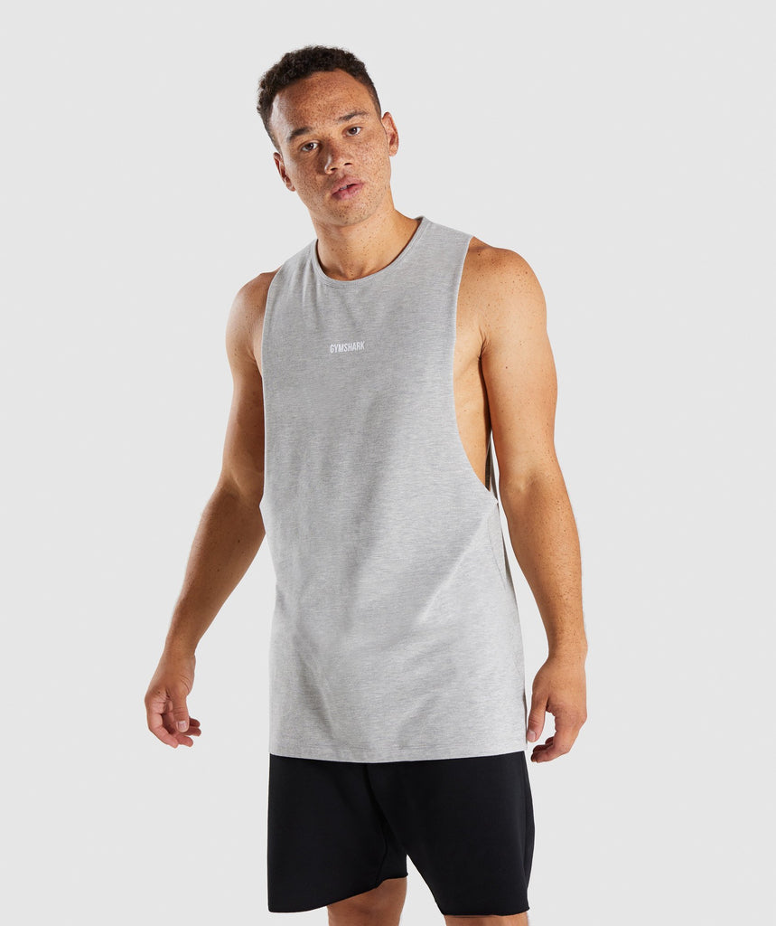 Gymshark Geo Tank - Light Grey Marl 1