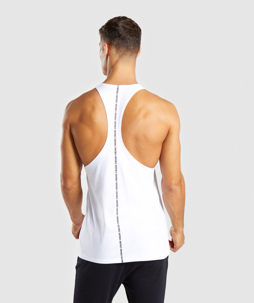 Gymshark Linear Stringer - White 1