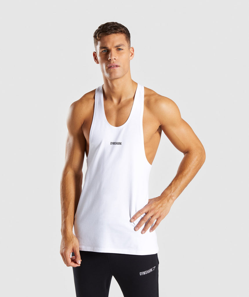 Gymshark Linear Stringer - White 2