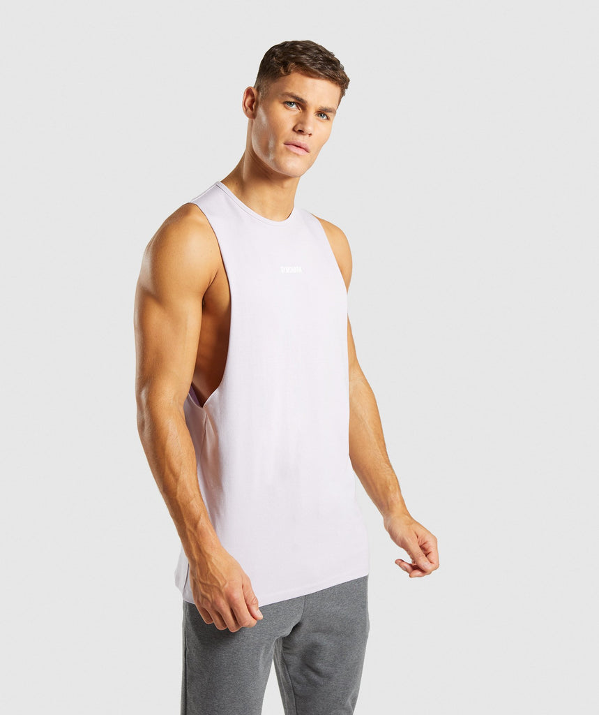 Gymshark Linear Tank - Purple Chalk 1