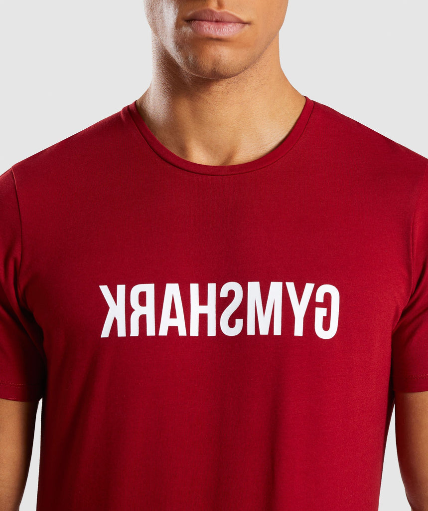Gymshark Reverse T-Shirt - Full Red 5