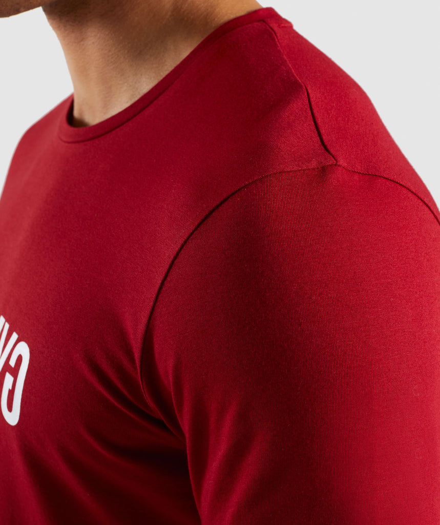 Gymshark Reverse T-Shirt - Full Red 6