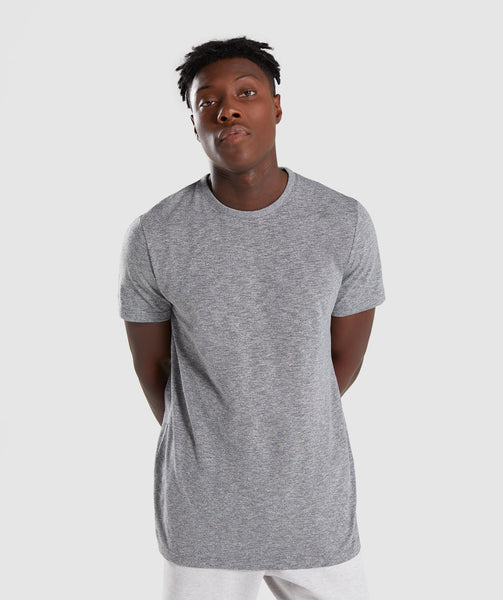 Gymshark Heather T-Shirt - Charcoal Marl 4