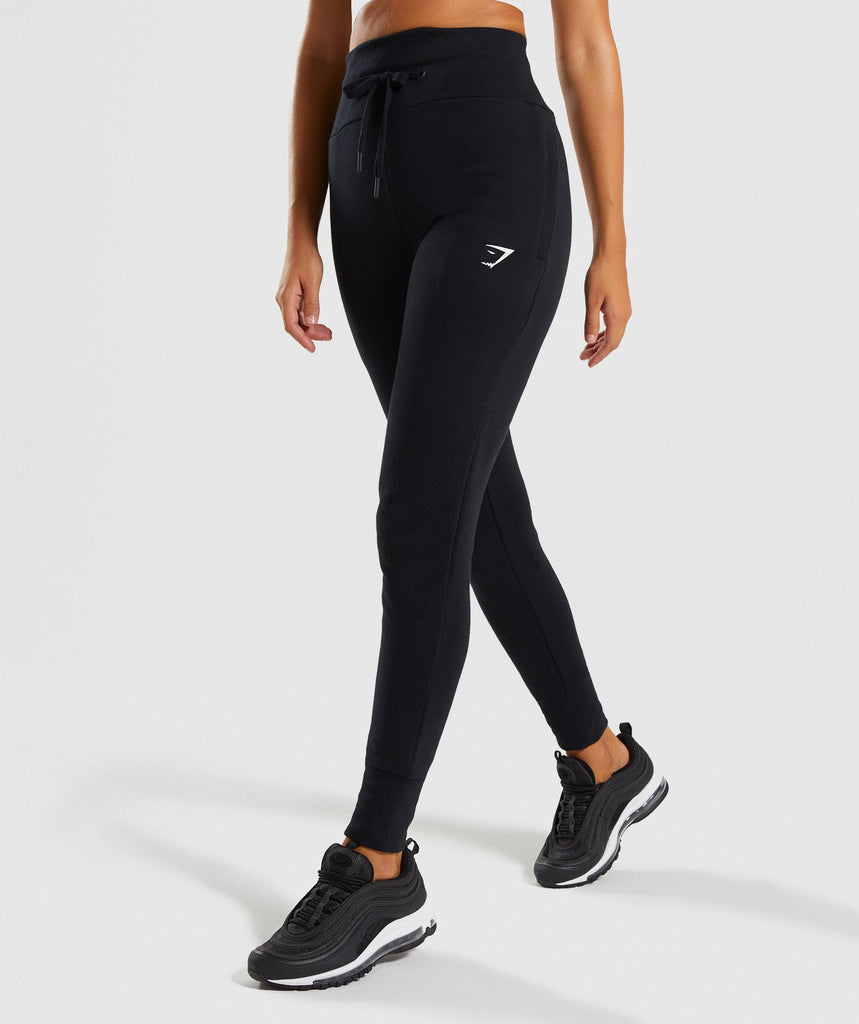 Gymshark High Waisted Joggers - Black 1