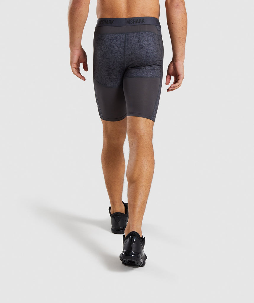 Gymshark Hybrid Baselayer Shorts - Charcoal Marl 2