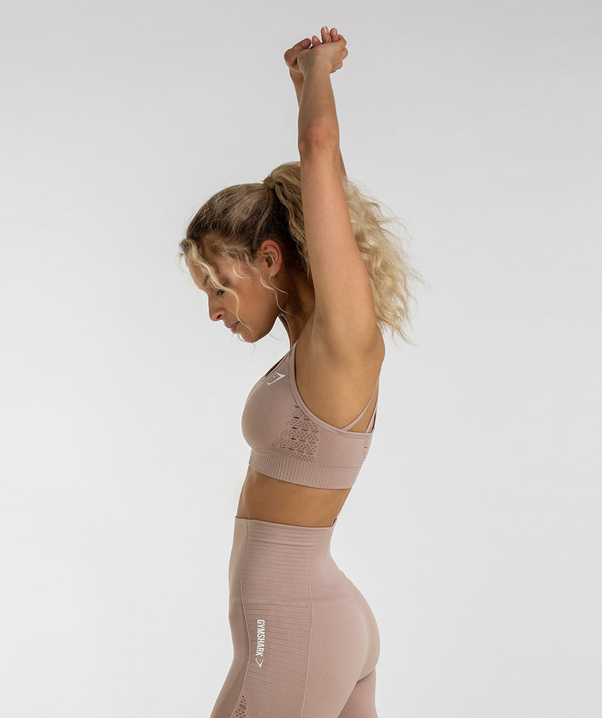 00bd4079995f7 Gymshark Energy Seamless Sports Bra - Taupe - Taille M