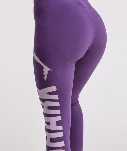 Gymshark Burnout Leggings - Rich Purple/Soft Lilac 4