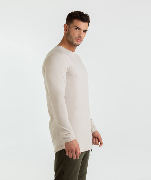 Gymshark Living Long Sleeve T-Shirt - Washed Beige 2