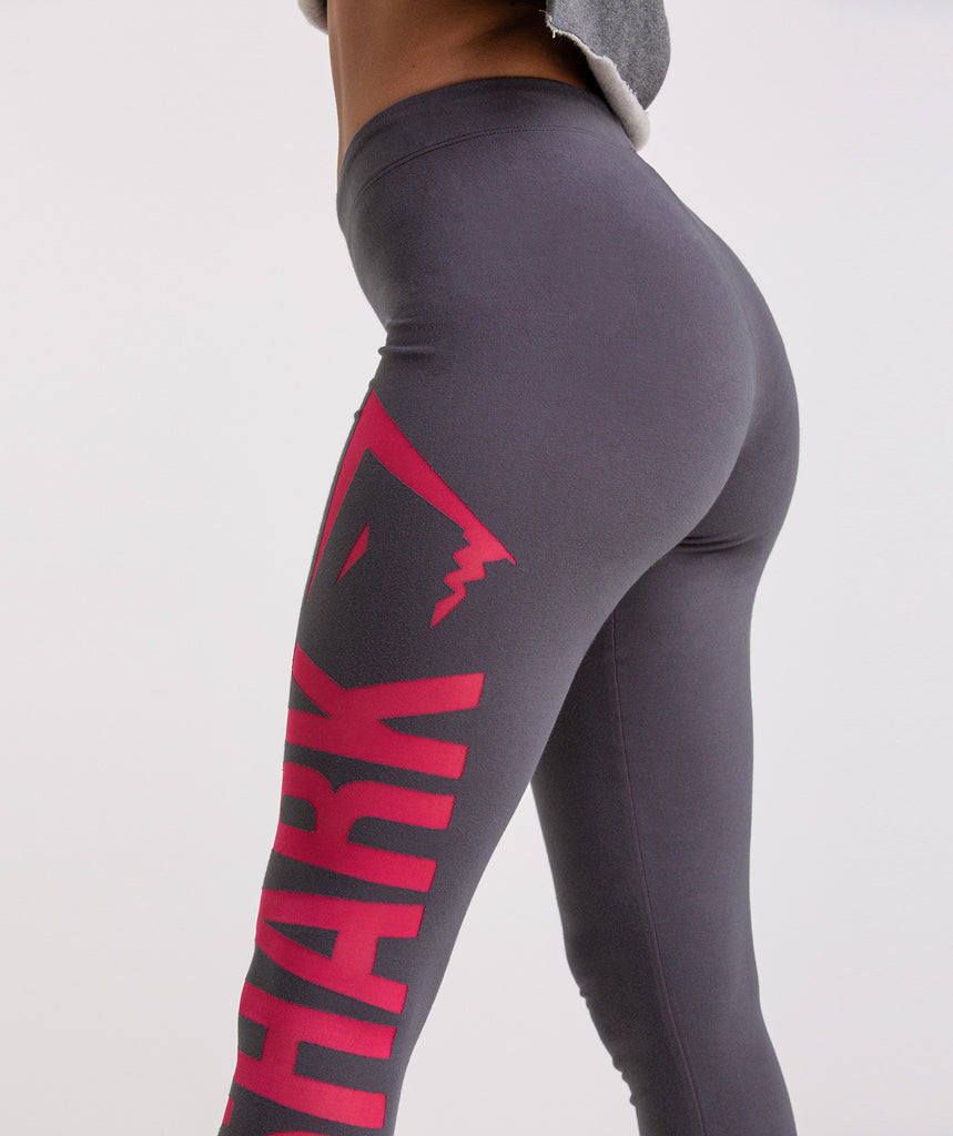 Gymshark Burnout Leggings - Charcoal/Cranberry 5