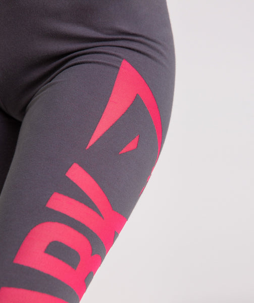 Gymshark Burnout Leggings - Charcoal/Cranberry 4