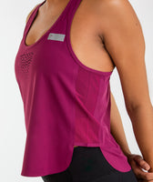 Gymshark T-Bar Cropped Vest 2.0 - Deep Plum 12