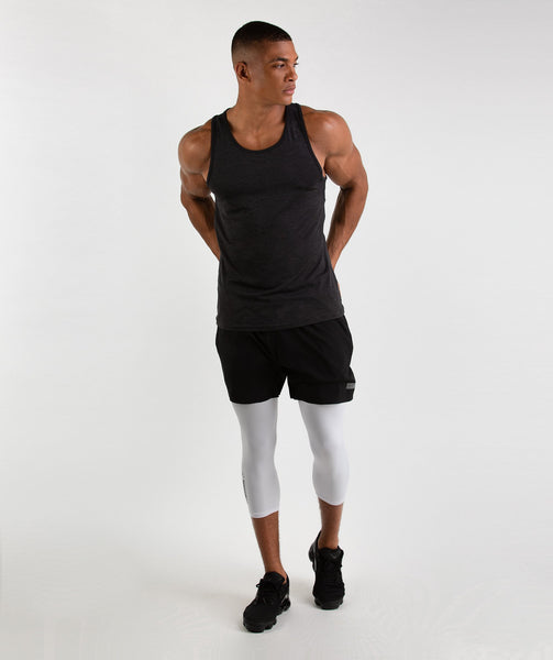 Gymshark Element Baselayer 3/4 Leggings - White 2
